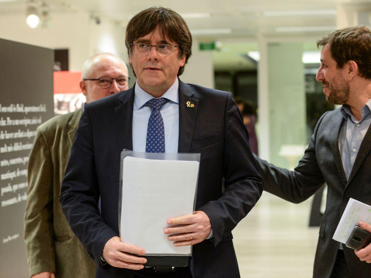Foto: Carles Puigdemont, este jueves. (EFE)