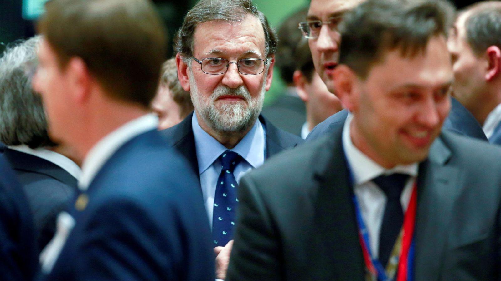 Foto: El presidente Mariano Rajoy, antes del inicio de la cumbre de líderes de la UE en Bruselas, en marzo de 2018. (EFE)