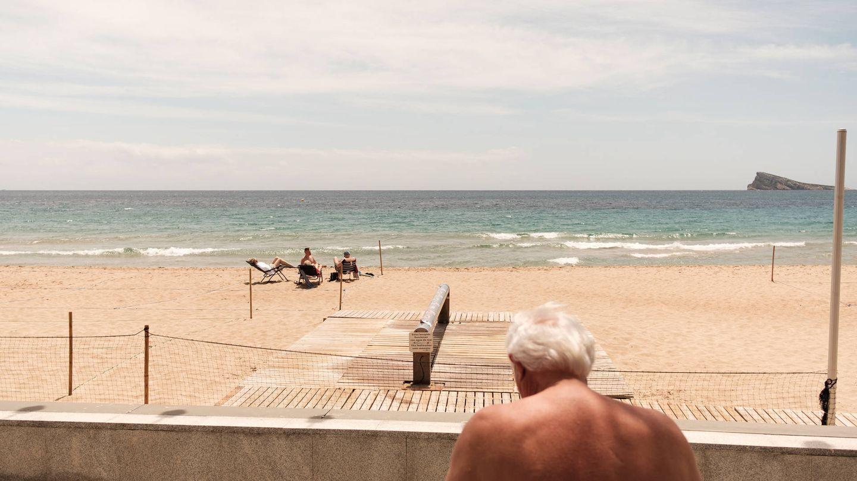 Vista de la Playa de Levante de Benidorm. (S.B)
