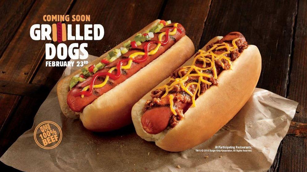 Foto: Los nuevos 'hot dogs' de Burger King saldrán a la venta el 23 de febrero en Estados Unidos. (BK)