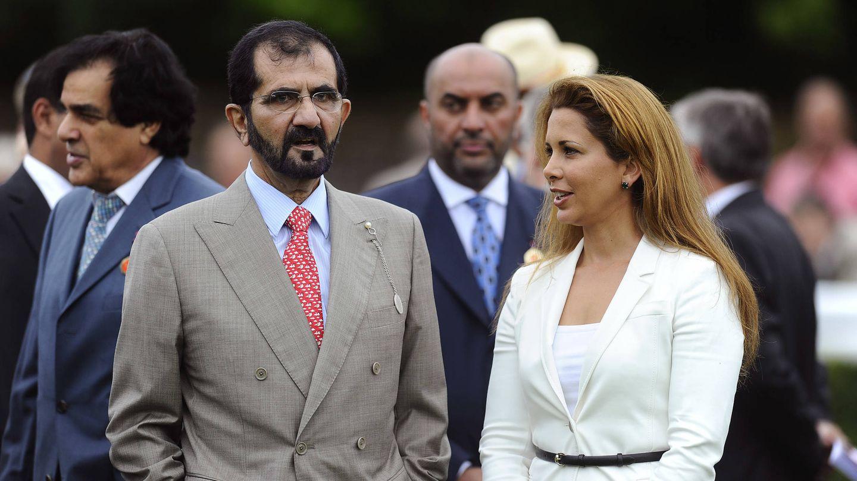 El emir de Dubái y su última esposa, Haya de Jordania. (Getty)