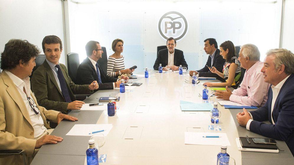 Foto: El presidente del Gobierno en funciones y del Partido Popular, Mariano Rajoy, durante la reunión del comité de dirección de la formación. (EFE)