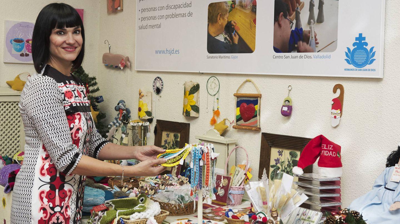 Irene Villa, en un mercadillo navideño. (Getty)