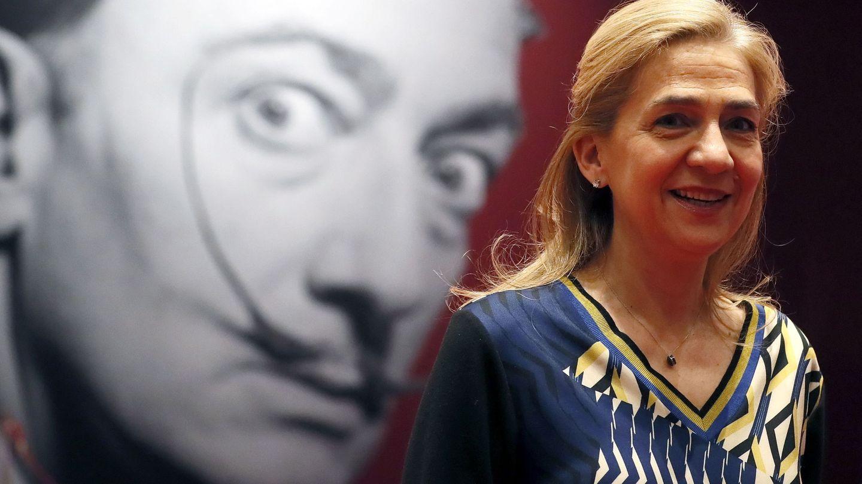 La infanta Cristina, este lunes en Moscú en la inauguración de una exposición de Dalí. (EFE)