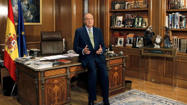 El rey Juan Carlos, durante uno de sus discursos. (EFE)