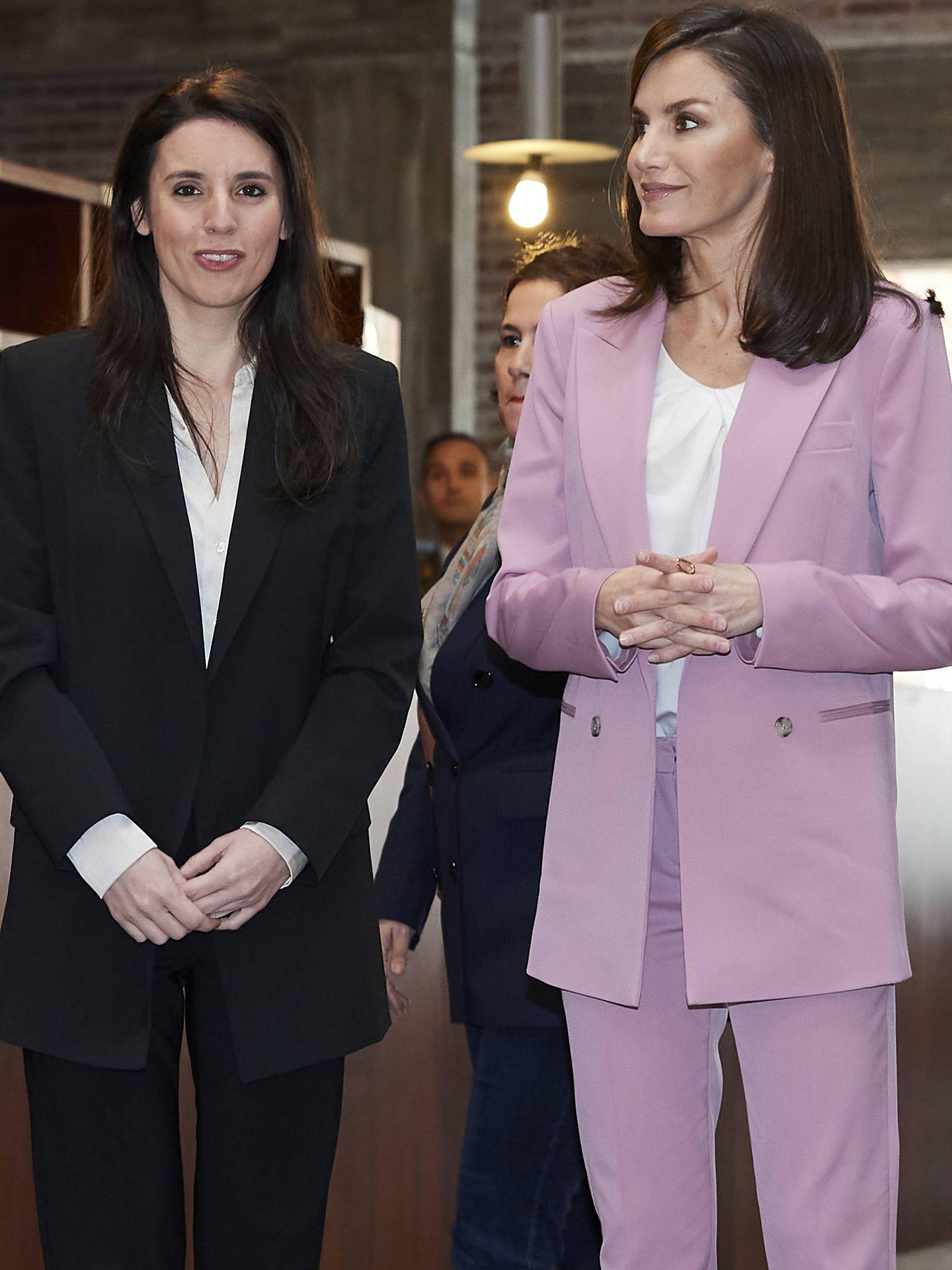 Irene, junto a la reina Letizia. (Getty)
