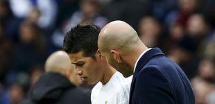 Post de El cara a cara de James con Zidane acaba con la farsa de que todos cuentan en el equipo