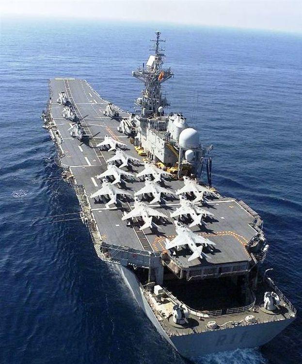 Foto: El portaaviones 'Príncipe de Asturias'. (Armada)