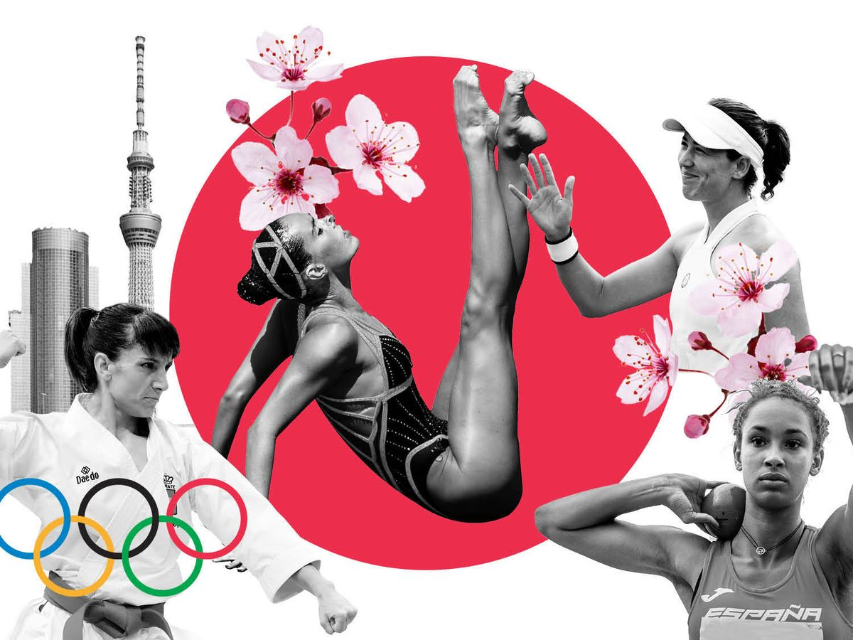 Foto: Montaje fotográfico de las deportistas olímpicas. (Vanitatis)