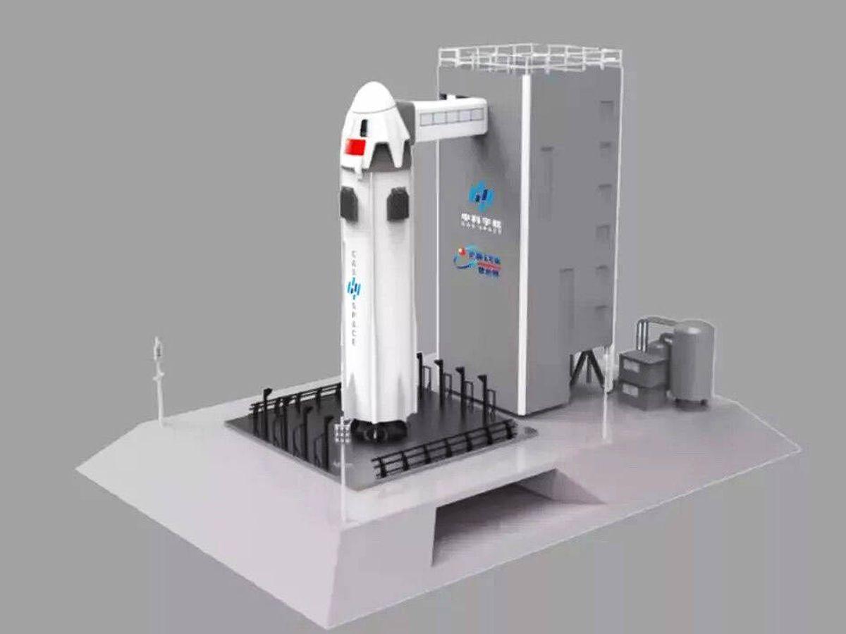 Foto: Diseño de la próxima nave china para turismo espacial. (CAS Space)
