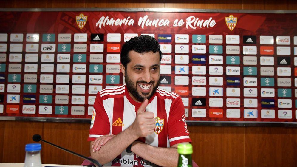 Foto: Turki Al-Sheikh, propietario de la Unión Deportiva Almería. (Efe)