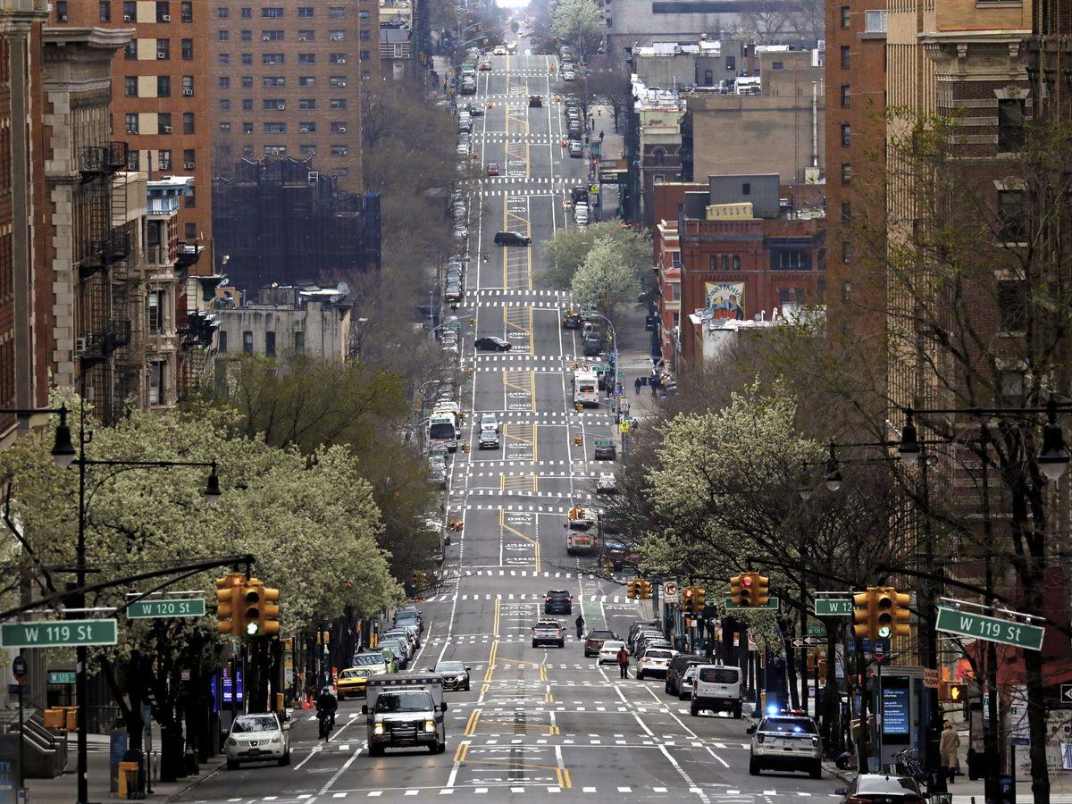 Foto: El tráfico este lunes en Nueva York. (EFE)