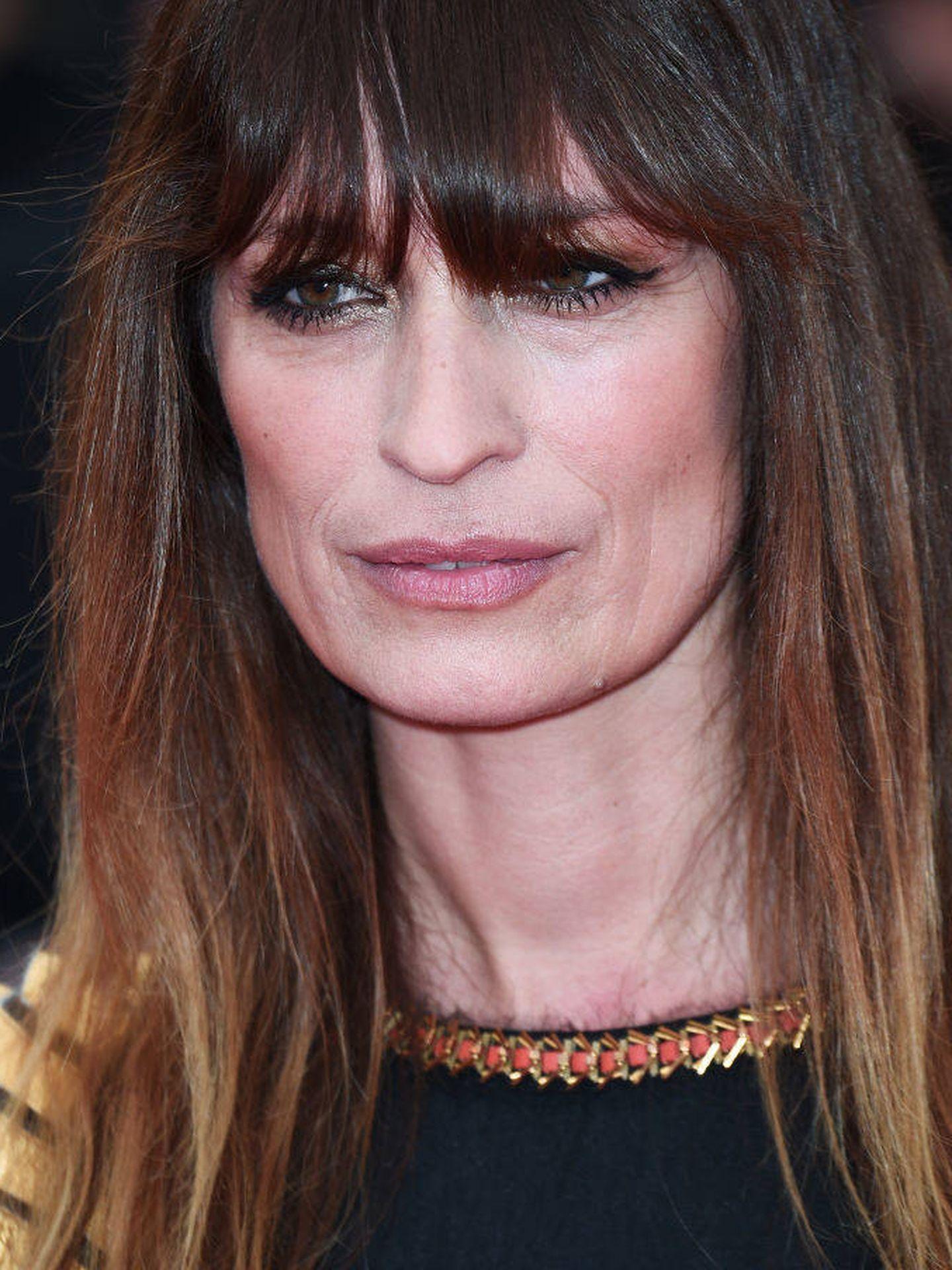 Detalle del maquillaje de Caroline de Maigret en el Festival de Cine de Cannes.  (Getty)