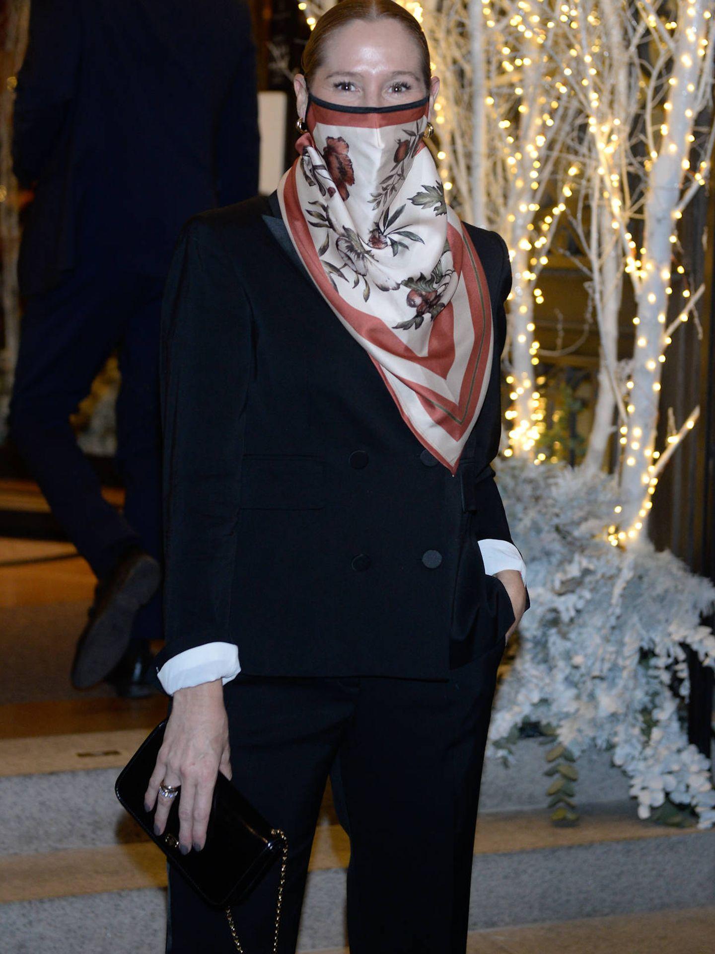 Fiona Ferrer a su llegada al Hotel Four Seasons. (Foto: Diego Puerta)
