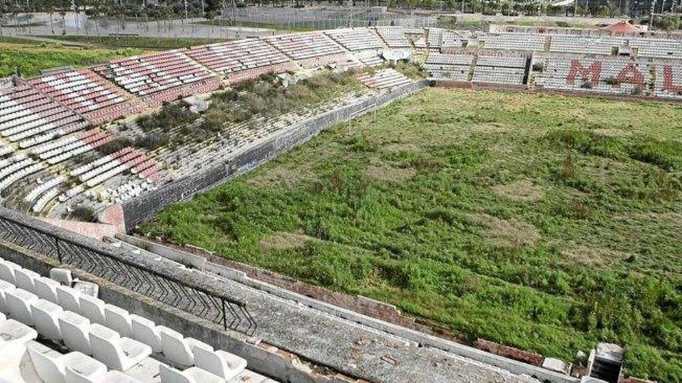 Foto: El estadio Lluis Sitjar, en Mallorca (RTVE)