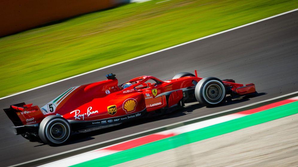 Foto: Sebastian Vettel durante los entrenamientos de Montmeló. (EFE)