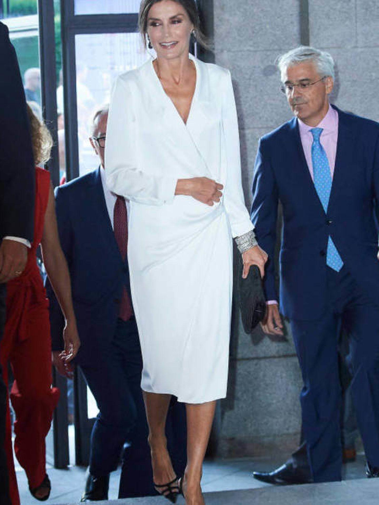 Letizia Ortiz, vestida de Lola Li. (LP)