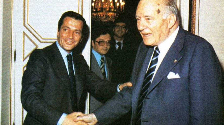 Adolfo Suárez y Josep Tarradellas.