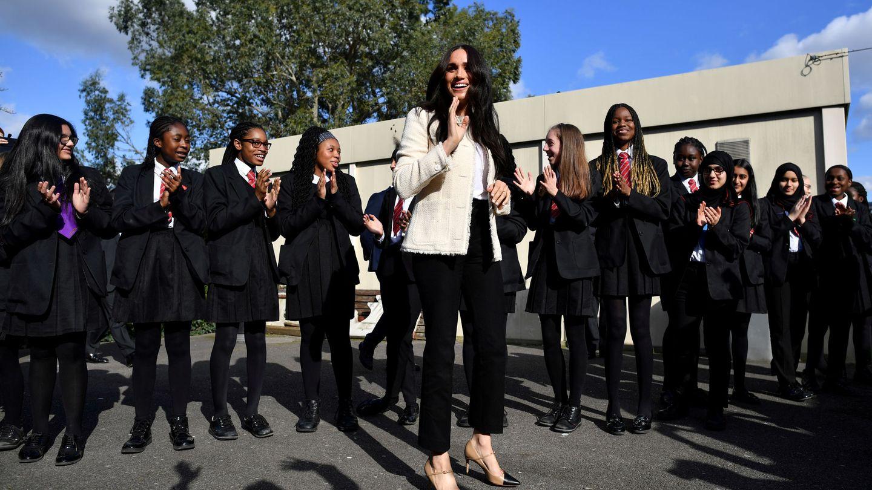 Meghan Markle, durante su visita a un centro educativo el pasado marzo. (Reuters)