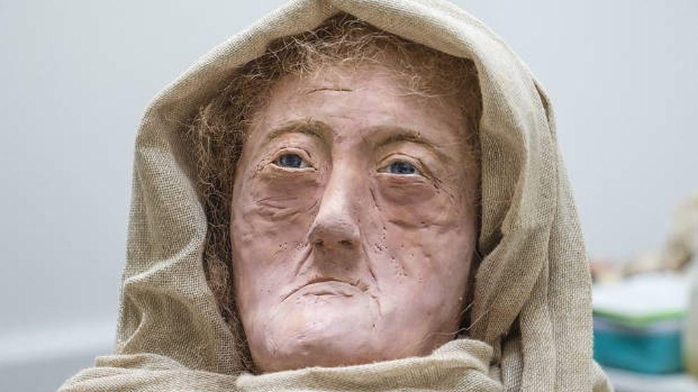 Foto: La reconstrucción del rosto de la druida. (University of Dundee)