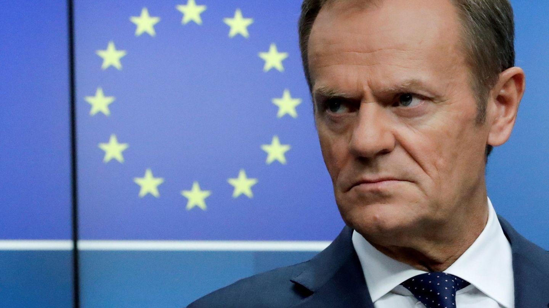 El presidente del Consejo Europeo, Donald Tusk, tras el Consejo Europeo en Bruselas. (EFE)
