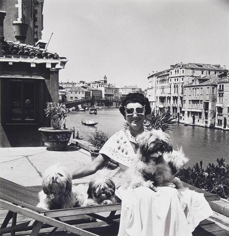 Foto: Peggy Guggenheim en Venecia