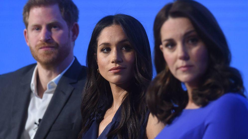 Foto:  Harry, con Meghan y Kate, en una imagen de archivo. (Getty)