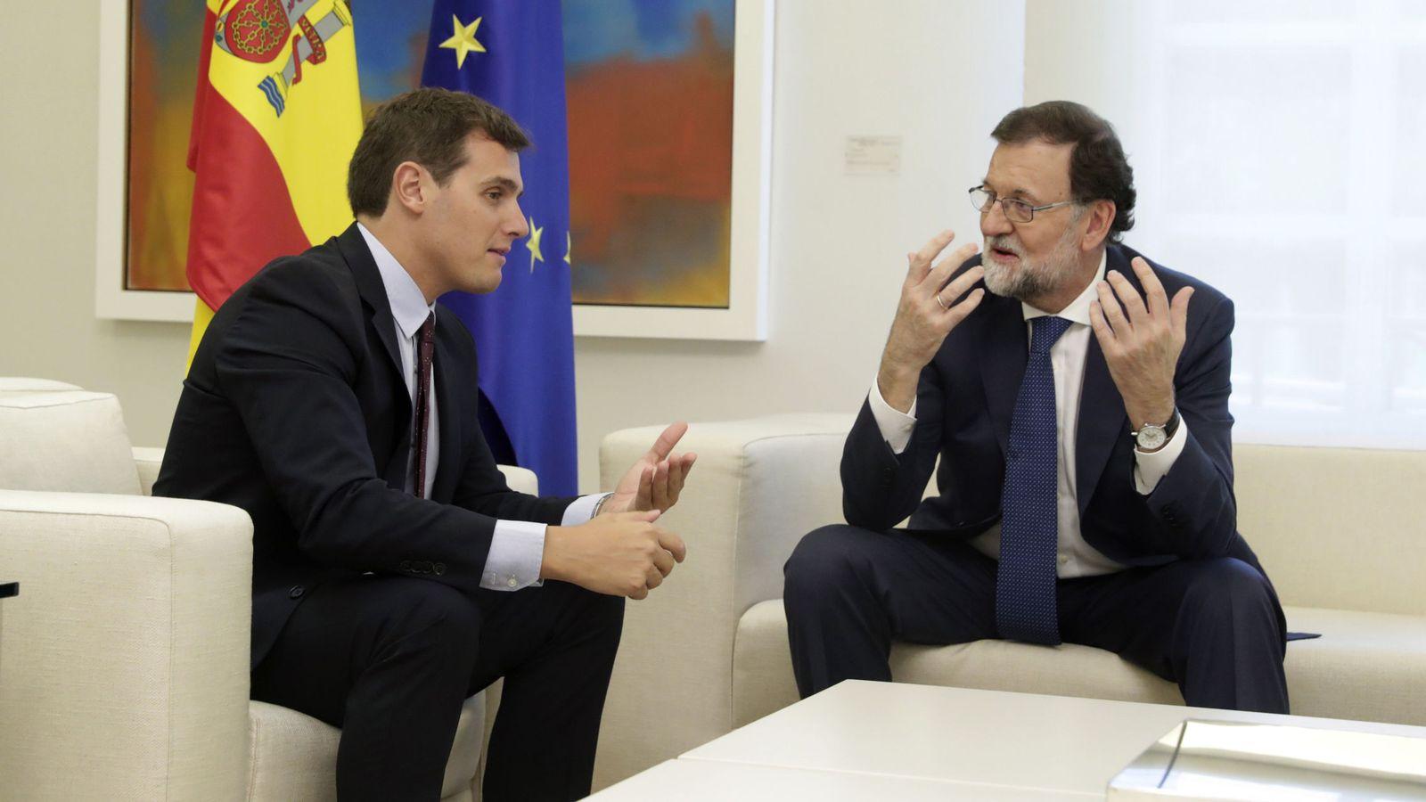 Foto: Mariano Rajoy y Albert Rivera, durante su reunión en La Moncloa el pasado 7 de septiembre. (EFE)