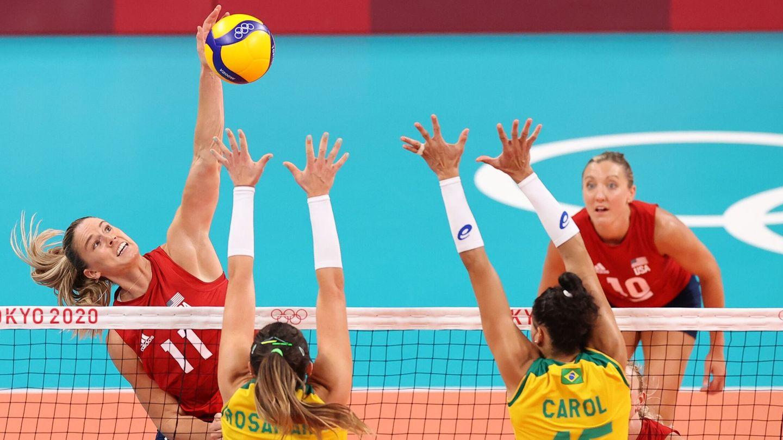 Jugada de la final EE.UU. - Brasil. (REUTERS)