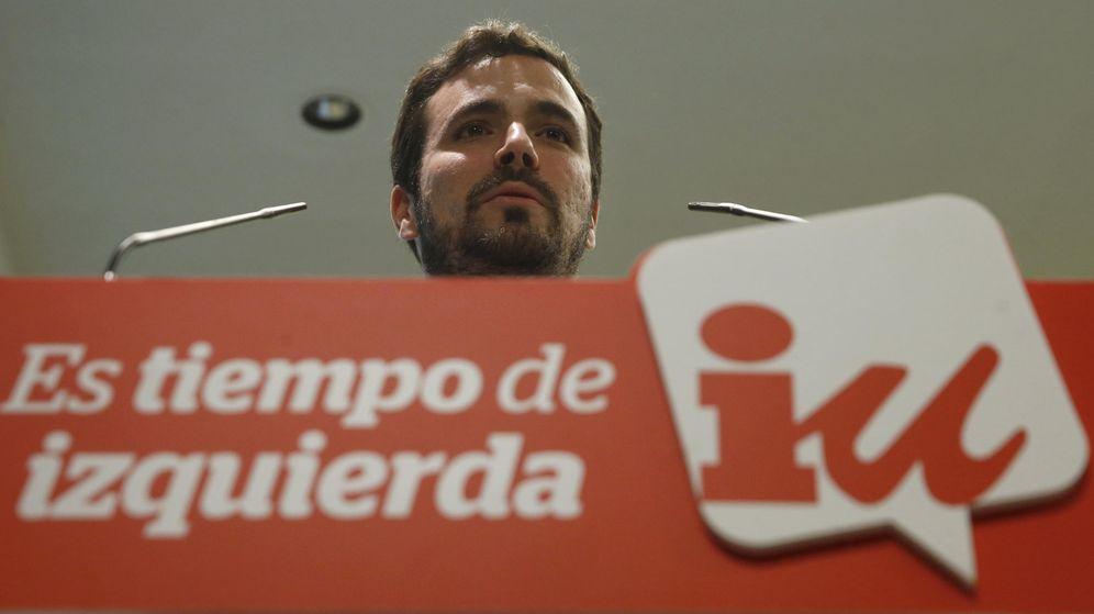 Foto: Alberto Garzón, en rueda de prensa en la sede de IU, este 3 de noviembre. (EFE)