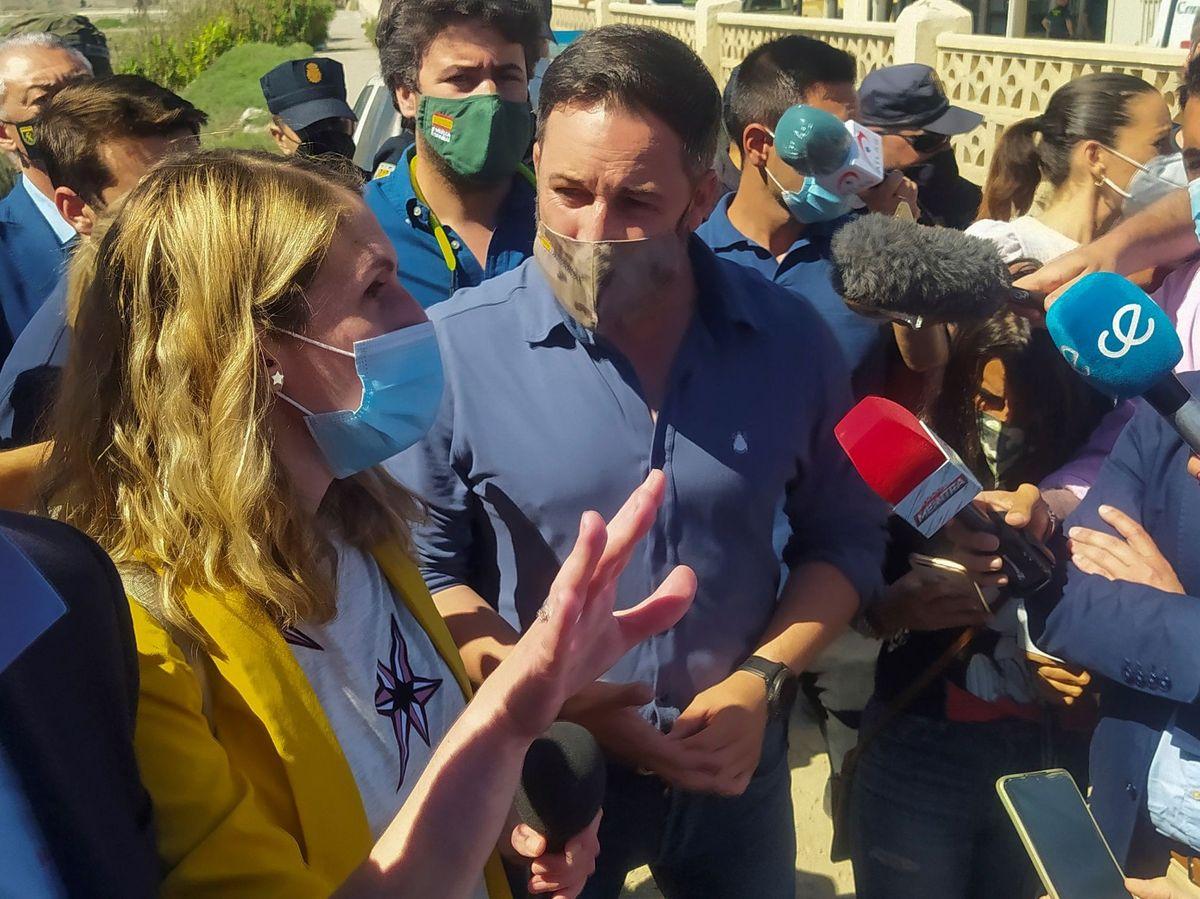 Foto: Visita en mayo del líder de Vox, Santiago Abascal, a Ceuta. (EFE)