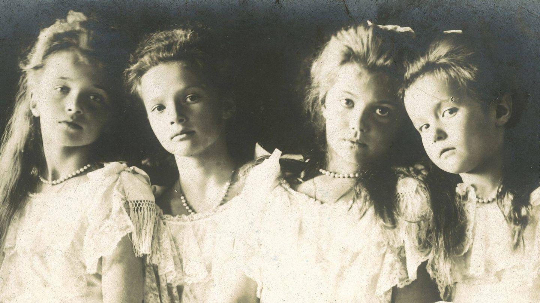 Olga, Tatiana, María y Anastasia, hijas del zar Nicolás II.