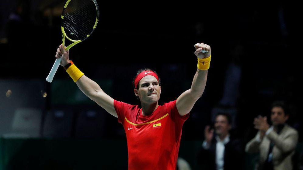 Foto: Rafa Nadal celebra su victoria ante Khachanov. (Reuters)