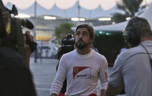 Alonso realizará su último número con Ferrari con la venda en los ojos