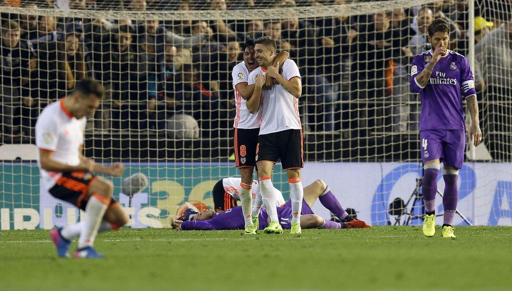 Foto: Imagen del Valencia - Real Madrid de la primera vuelta. (EFE)