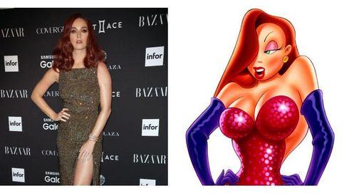 Katy Perry a lo Jessica Rabbit y otras famosas 'animadas'