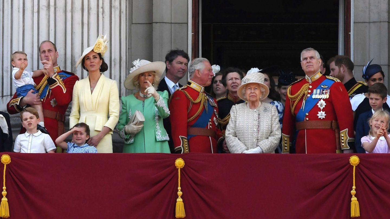 La Familia Real, durante el último 'Trooping the colour'. (Reuters)