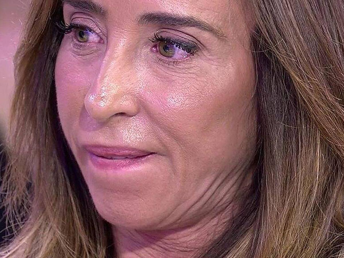 Foto: María Patiño, en 'Sálvame'. (Telecinco).