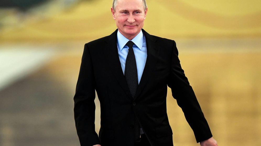Foto: El presidente ruso, Vladímir Putin, a su llegada al Kremlim. (EFE)