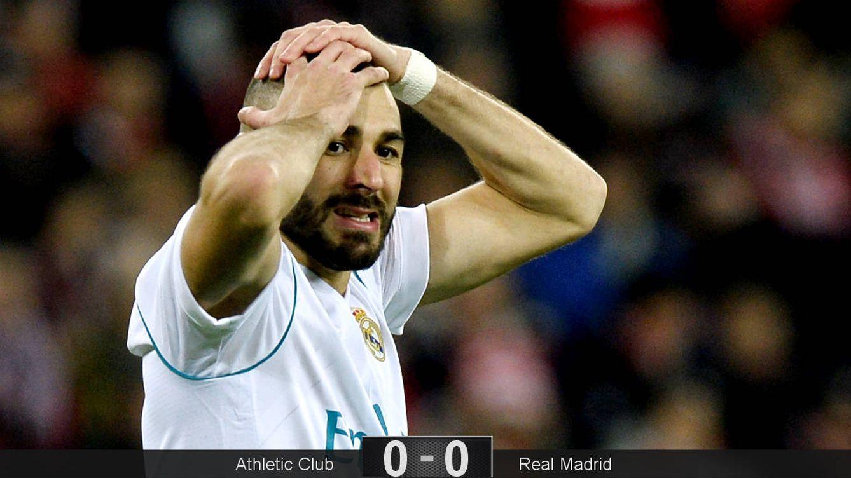 Foto: Benzema no encontró forma de marcar. (Reuters)