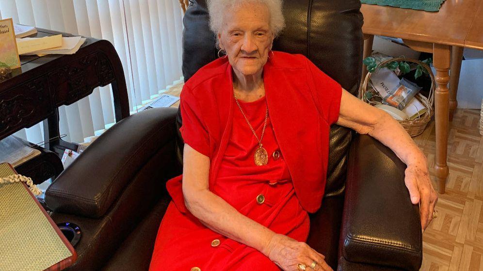Foto: Thelma Smith, a sus 102 años, está a punto de ser desahuciada de la casa en la que vive desde hace tres décadas (Foto: GoFundMe)