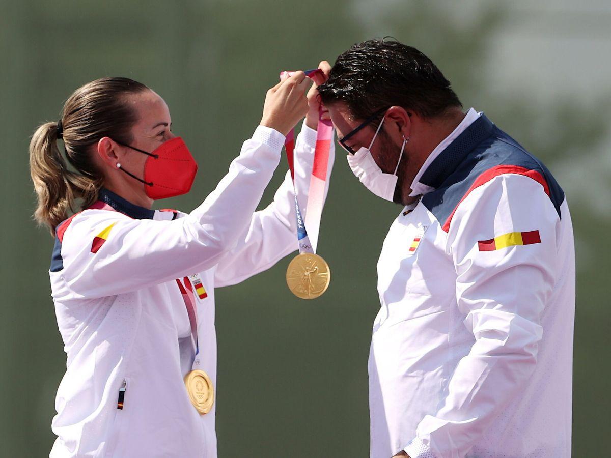 Foto: Gálvez (i) y Fernández ganaron este sábado el primer oro de España en Tokio. (EFE)