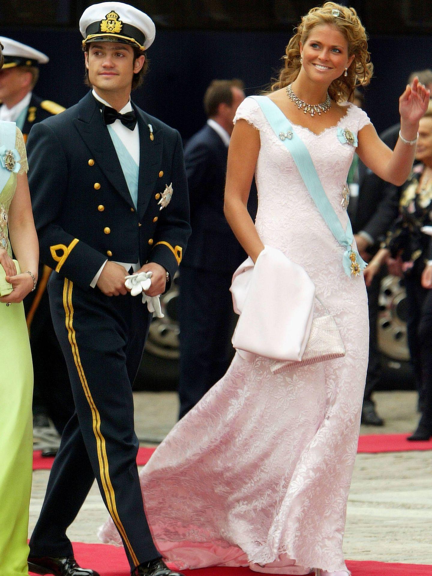 Carlos Felipe y Magdalena de Suecia. (Getty)