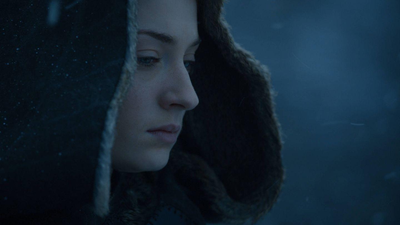 Sansa Stark meditando sobre su futuro en Invernalia