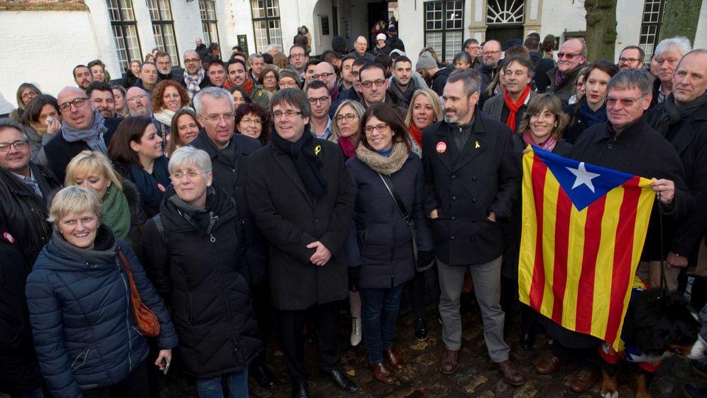 Foto: Carles Puigdemont, el pasado sábado, en Brujas. (EFE)