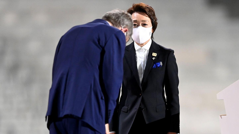 Thomas Bach y Seiko Hashimoto. (Reuters)