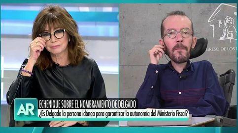 Echenique le echa en cara a Ana Rosa un bulo sobre Pablo Iglesias en su programa: ¿Lo desmentisteis al final?