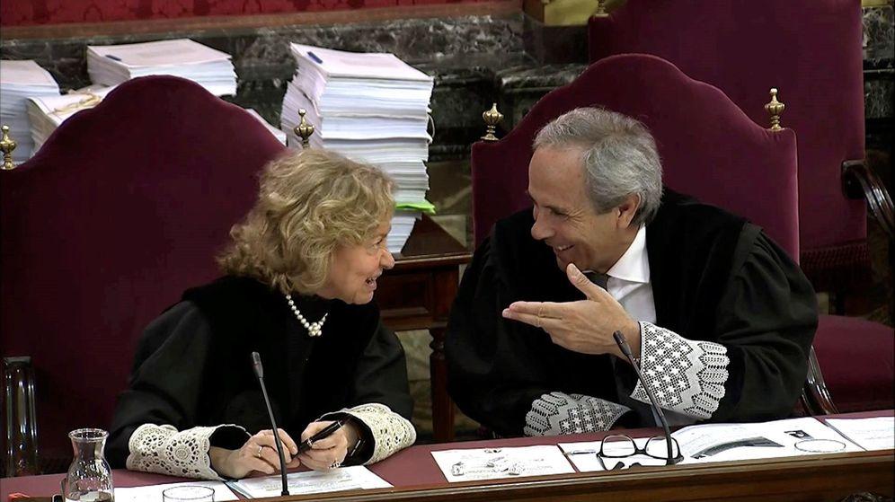 Foto: Los fiscales en la jornada del juicio del procés. (EFE)