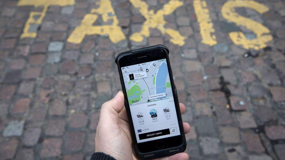 Foto: Uber aplicación. (Reuters)