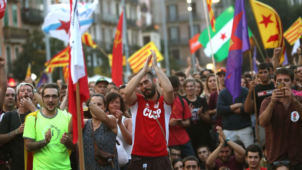 Foto: Marcha de la Diada, en Barcelona. (EFE)